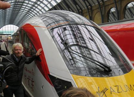 ヴァージン・グループのリチャード・ブランソン会長... 英国高速鉄道に日立の新型車両「あずま」