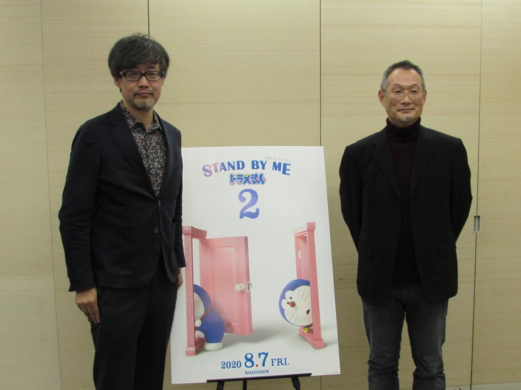 『STAND BY MEドラえもん2』の山崎監督(左)と八木監督