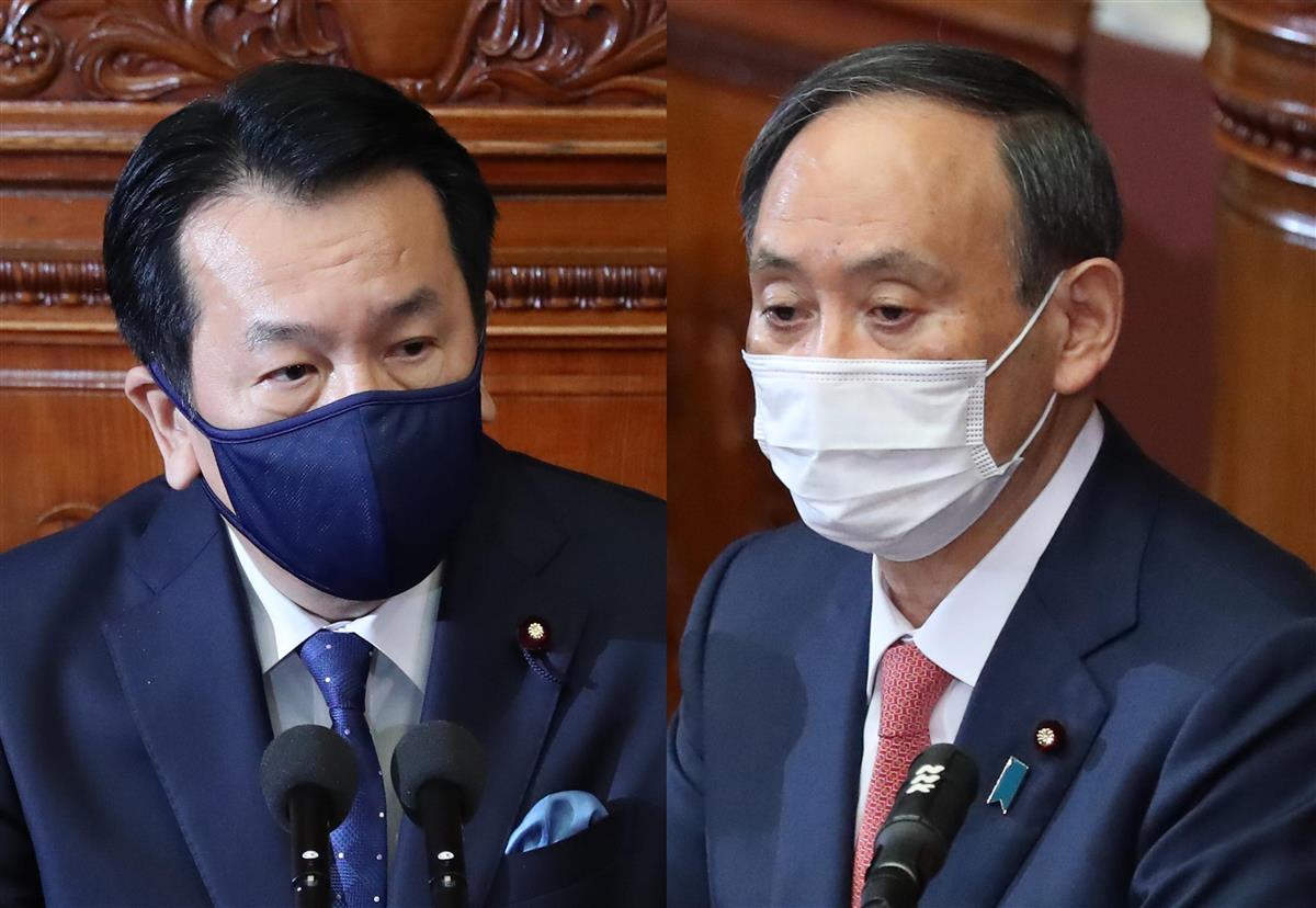 代表質問で党首が直接対決、枝野氏「なぜ後手」に首相「最善判断が必要」