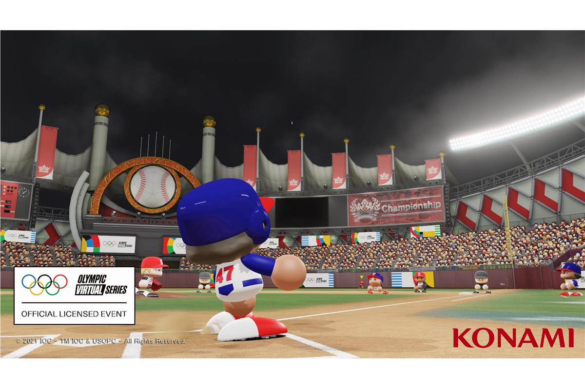 コナミの「eBASEBALLパワフルプロ野球2020」(c) 2021 IOC - TM IOC & USOPC - All Rights Reserved. World Baseball Softball Confederation(WBSC) (c)Konami Digital Entertainment