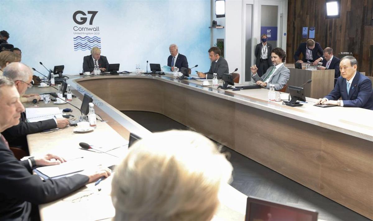 G7が中国名指しで人権尊重要求、東京五輪・パラは開催支持